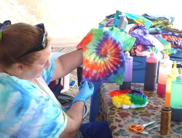 Jill, the tie-dye queen.